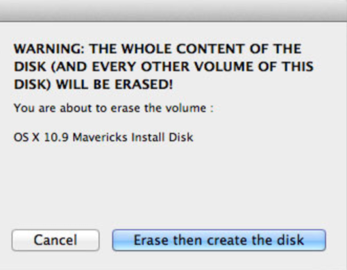 Mavericks with DiskMaker